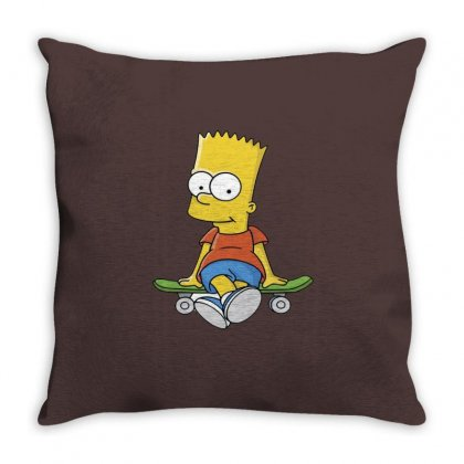 Simpson Throw Pillow Designed By Trisna