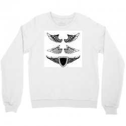 set vintage emblems wings isolated white background design element log Crewneck Sweatshirt | Artistshot