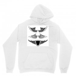 set vintage emblems wings isolated white background design element log Unisex Hoodie | Artistshot