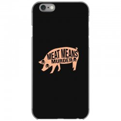 Meat means murder iPhone 6/6s Case | Artistshot