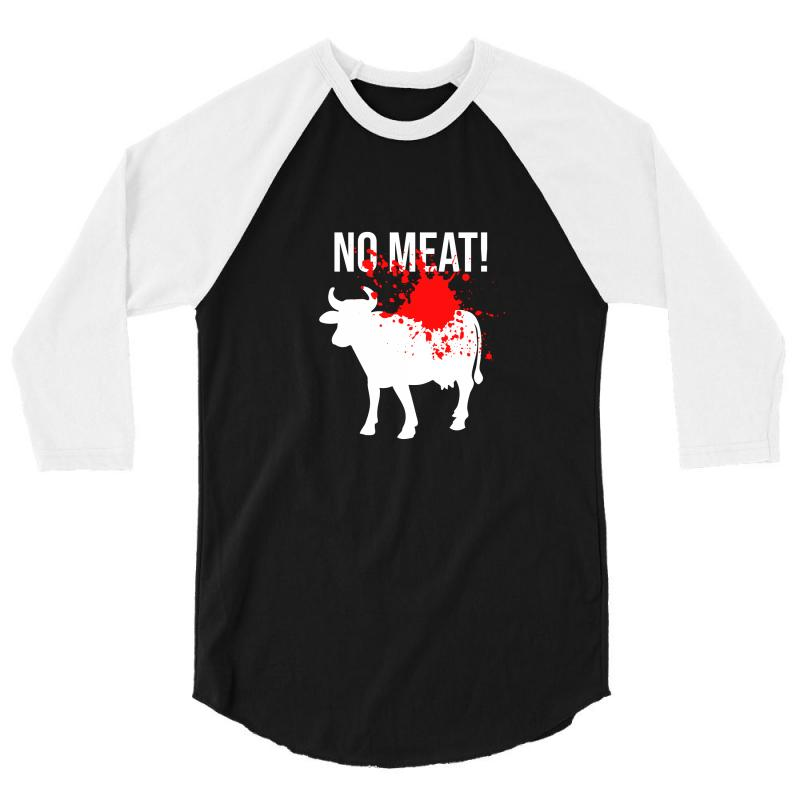 No Meat 3/4 Sleeve Shirt | Artistshot