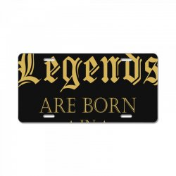 LEGENDS BORN IN SEPTEMBER License Plate | Artistshot