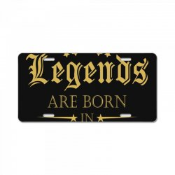 LEGENDS BORN IN DECEMBER License Plate | Artistshot