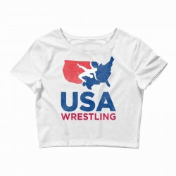 usa wrestling eroded Crop Top | Artistshot