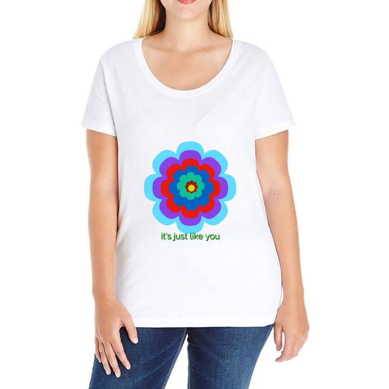 Thakurji Flower1 Ladies Curvy T-shirt | Artistshot