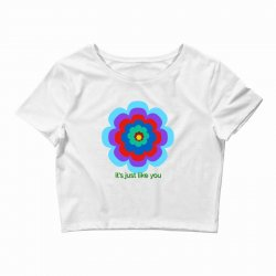 Thakurji flower1 Crop Top | Artistshot