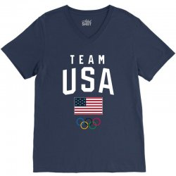 team usa olympics V-Neck Tee | Artistshot