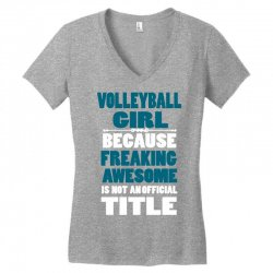volleyball girl Women's V-Neck T-Shirt | Artistshot