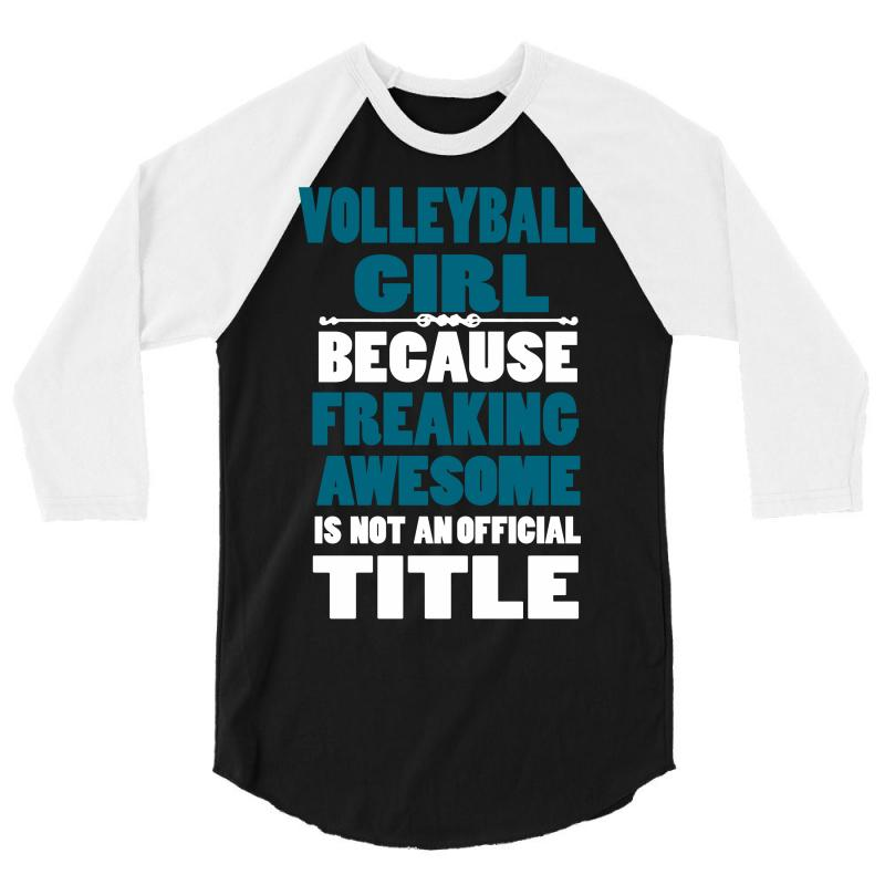 Volleyball Girl 3/4 Sleeve Shirt | Artistshot