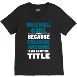 volleyball girl V-Neck Tee | Artistshot
