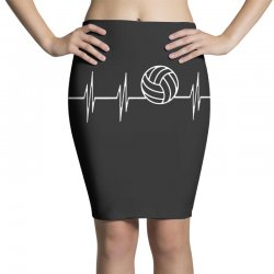 volleyball heart Pencil Skirts | Artistshot