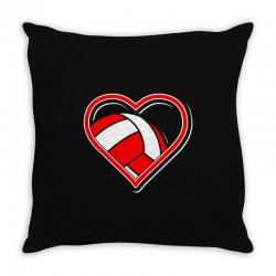 volleyball heart Throw Pillow | Artistshot
