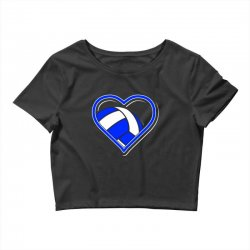 volleyball heart Crop Top | Artistshot