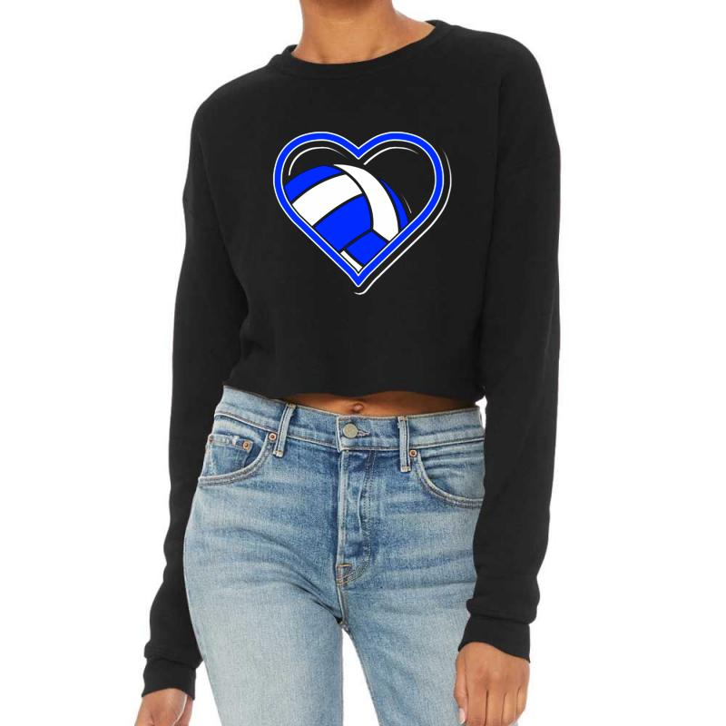 Volleyball Heart Cropped Sweater | Artistshot