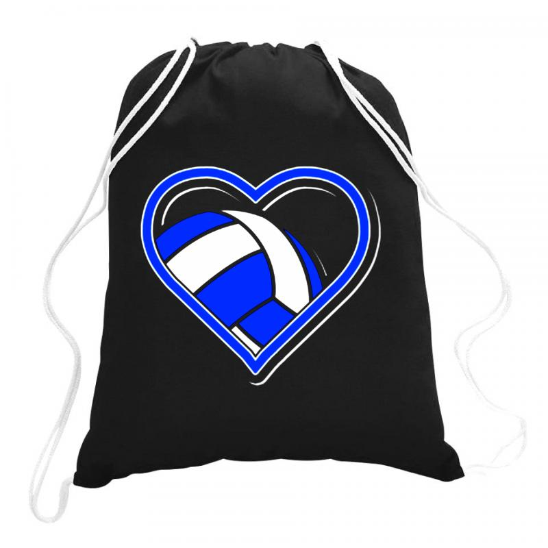 Volleyball Heart Drawstring Bags | Artistshot