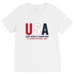 usa 2020 world champions V-Neck Tee | Artistshot