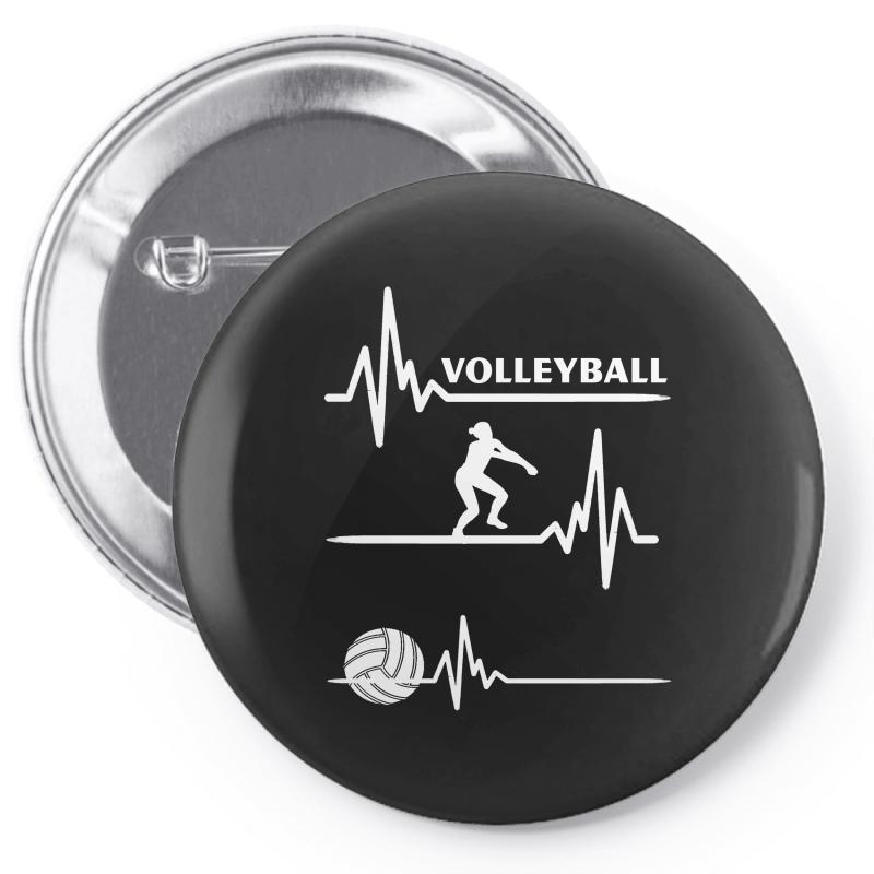 Volleyball Heart Pin-back Button | Artistshot