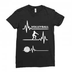 volleyball heart Ladies Fitted T-Shirt | Artistshot