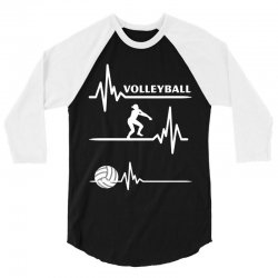 volleyball heart 3/4 Sleeve Shirt | Artistshot