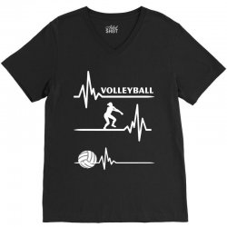 volleyball heart V-Neck Tee | Artistshot