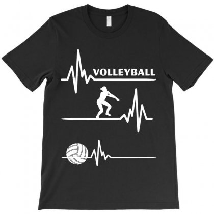 Volleyball Heart T-shirt Designed By Hoainv