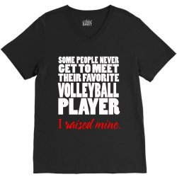 volleyball i raised mine V-Neck Tee | Artistshot
