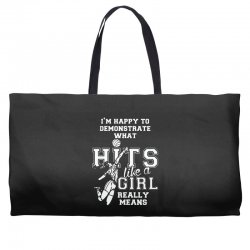 volleyball i'am happy to demons frate weat Weekender Totes | Artistshot