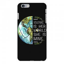 volleyball is her world she is mine iPhone 6 Plus/6s Plus Case | Artistshot