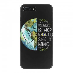 volleyball is her world she is mine iPhone 7 Plus Case | Artistshot
