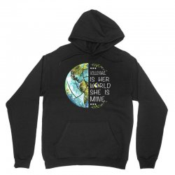 volleyball is her world she is mine Unisex Hoodie | Artistshot