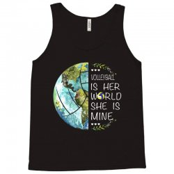 volleyball is her world she is mine Tank Top | Artistshot