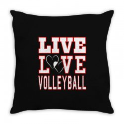 volleyball live love volleyball Throw Pillow | Artistshot