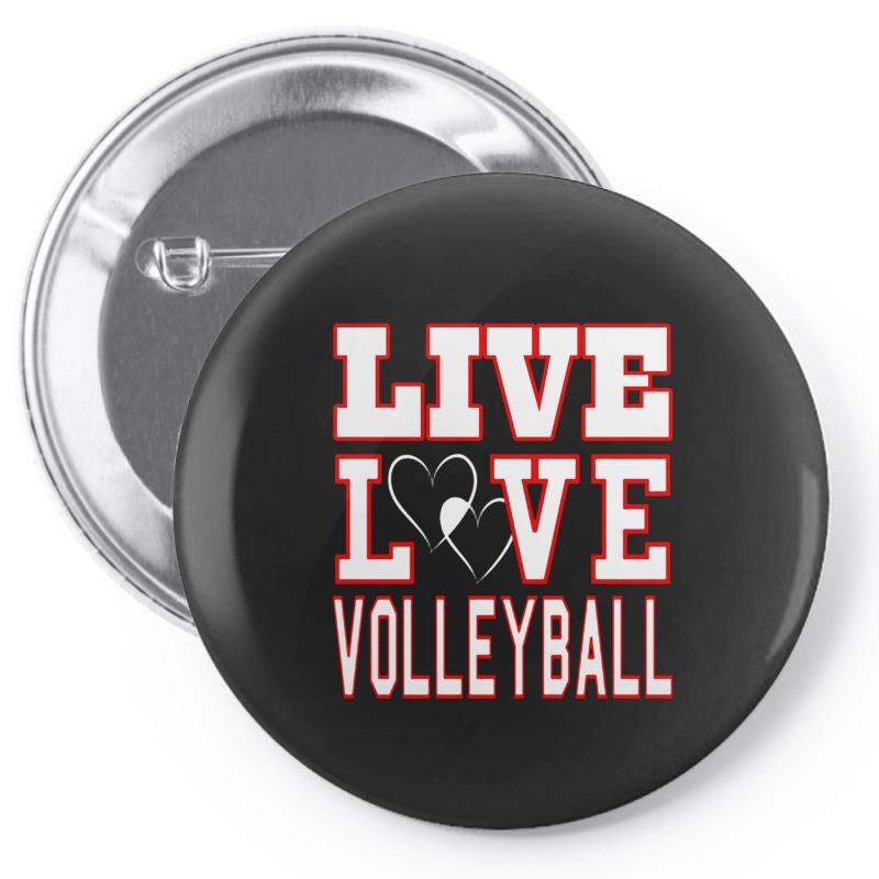 Volleyball Live Love Volleyball Pin-back Button   Artistshot