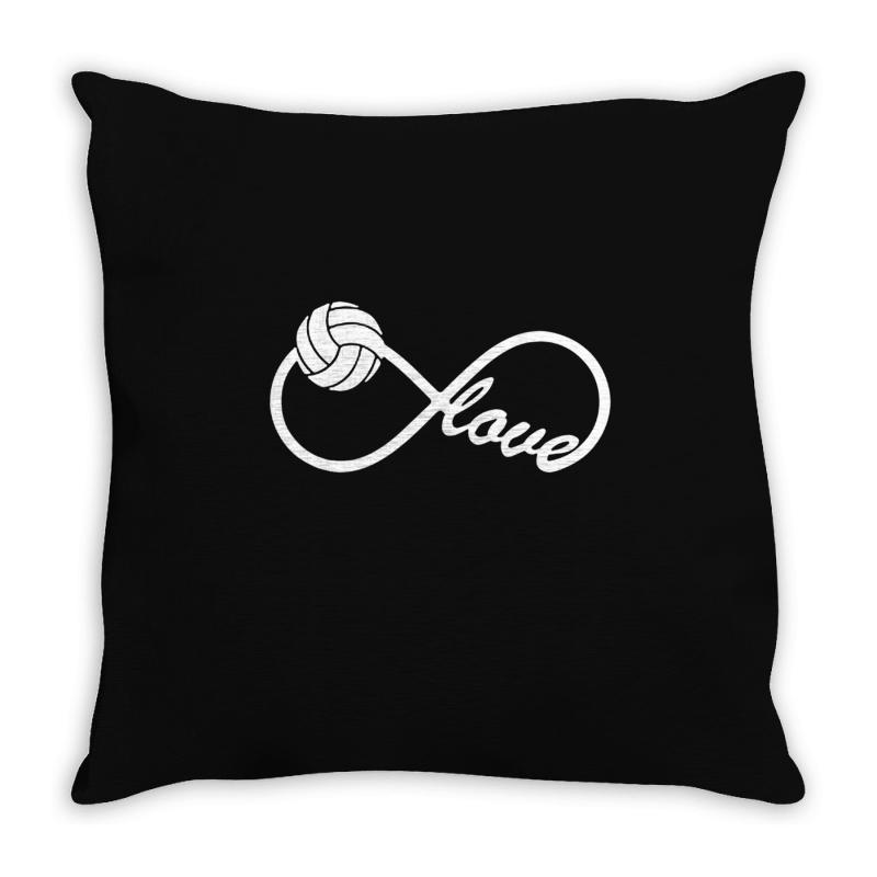 Volleyball Love Throw Pillow | Artistshot