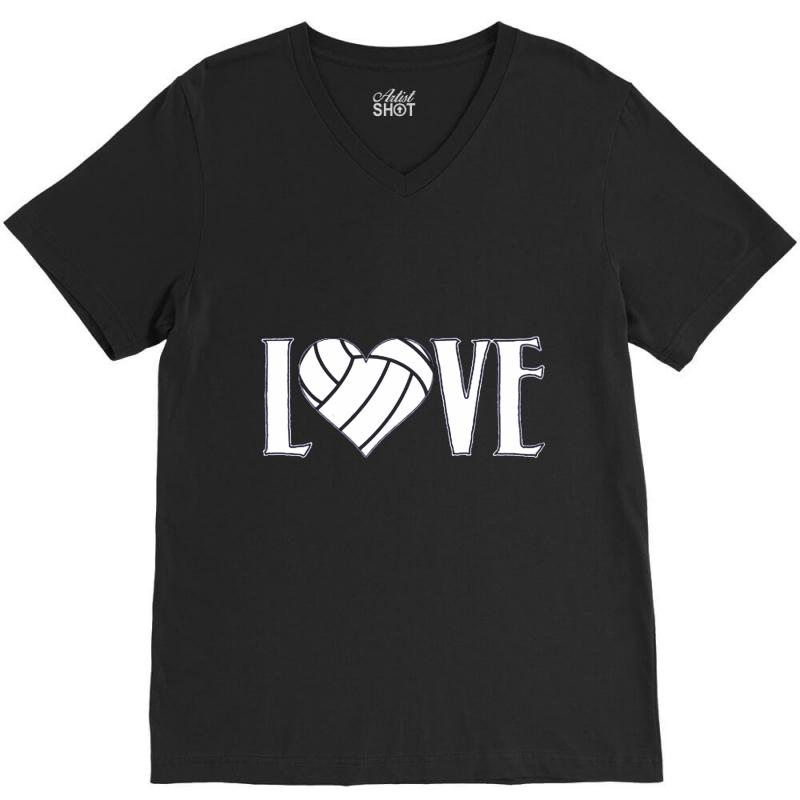 Volleyball Love V-neck Tee | Artistshot