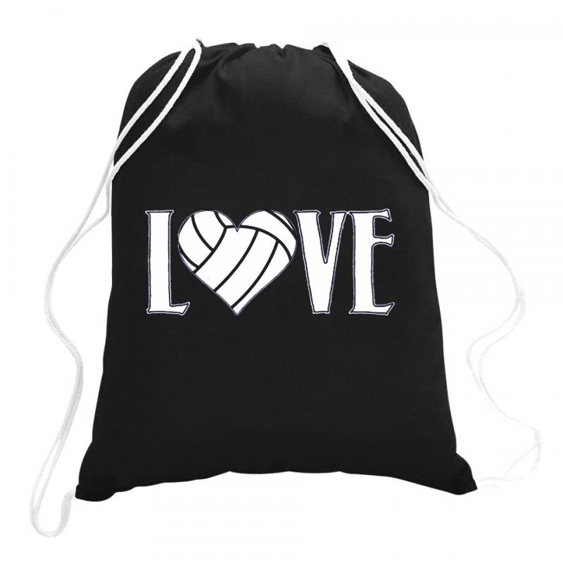Volleyball Love Drawstring Bags | Artistshot