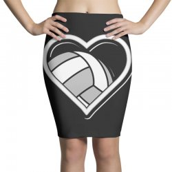 volleyball love heart Pencil Skirts | Artistshot