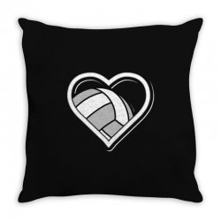 volleyball love heart Throw Pillow | Artistshot