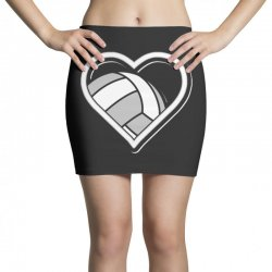 volleyball love heart Mini Skirts | Artistshot