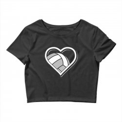 volleyball love heart Crop Top | Artistshot