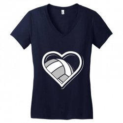 volleyball love heart Women's V-Neck T-Shirt | Artistshot