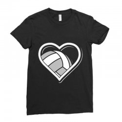 volleyball love heart Ladies Fitted T-Shirt | Artistshot
