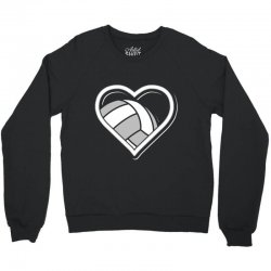volleyball love heart Crewneck Sweatshirt | Artistshot