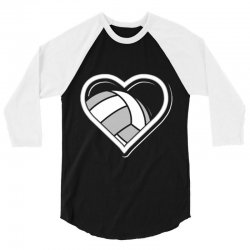 volleyball love heart 3/4 Sleeve Shirt | Artistshot