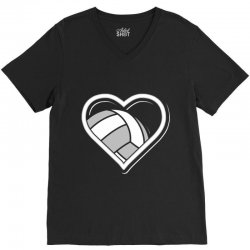 volleyball love heart V-Neck Tee | Artistshot
