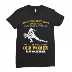 volleyball old women Ladies Fitted T-Shirt | Artistshot