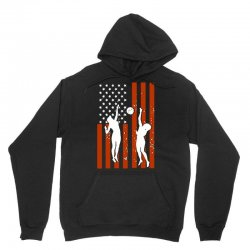 volleyball two players american flag Unisex Hoodie   Artistshot