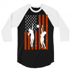 volleyball two players american flag 3/4 Sleeve Shirt   Artistshot