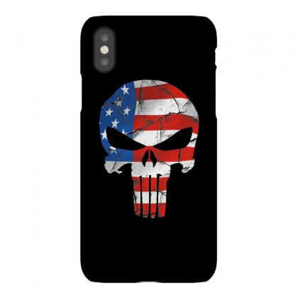 The Punisher - Usa Flag Grunge Iphonex Case Designed By Jetstar99