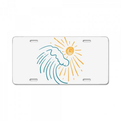 Sun And Wave License Plate